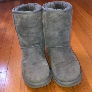 Ugg Gray suede medium high boot